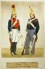 Garde von Paris (Gardist zu Pferd in Uniform zu Pferd und zu Fuß)